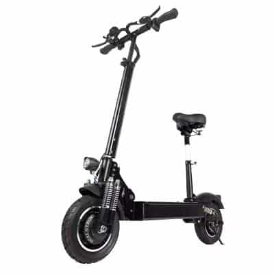 portable electric scooter with seat