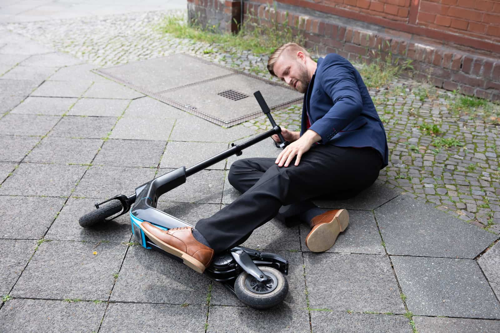 Young Man Accident With An Electric Scooter